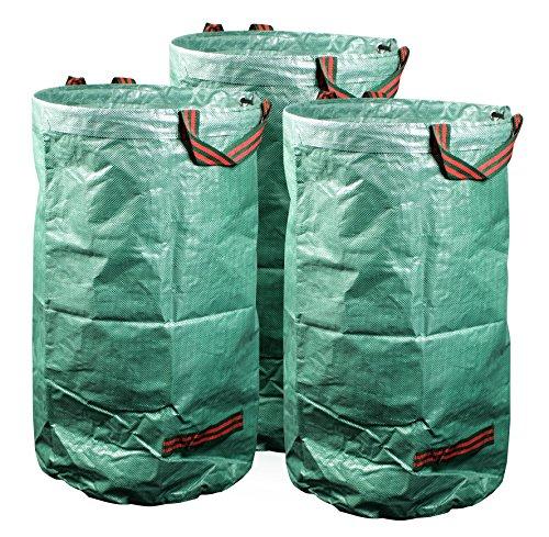 20l | Stabiler Gartenabfallsack aus robustem Polypropylen Gewebe 150 g/m² | 3er-Set ()
