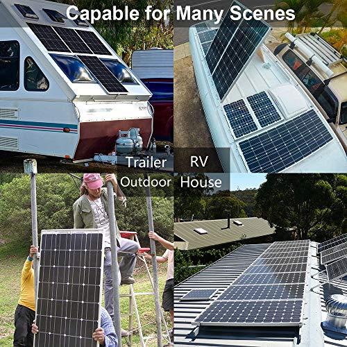 ECO-WORTHY 150W 12v Monokristallin Solarpanel Solarmodul Ideal FÜR Berechnen 12 Volt Batterie Systeme Bausatz , Camping, Wohnmobil,Wohnmobile, Boote ,Gartenhäuser - 5