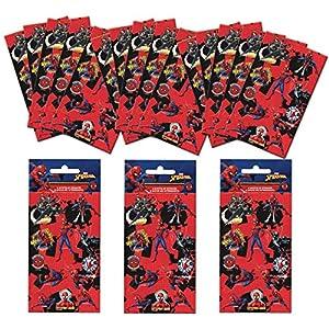 Paper Projects 01.70.24.054 Paquete de calcomanías para fiesta de Spider-Man (18 hojas)