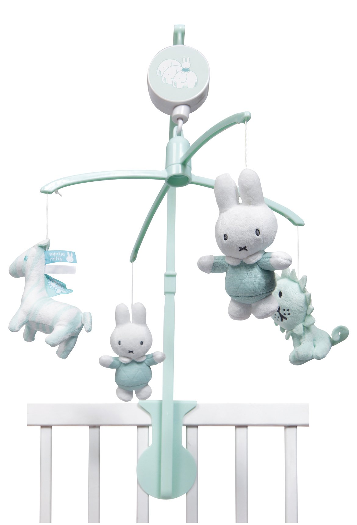 Hase Miffy Mobile Musikmobile Mint mit Halterung - Twinkle Twinkle