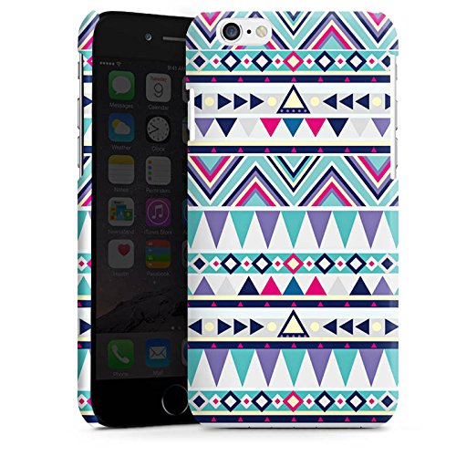 Apple iPhone 5s Housse Étui Protection Coque Motif Motif Triangles Cas Premium brillant