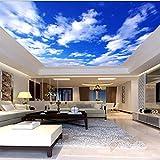 Tapete Cham blauen Himmel leere Wolke Decke Zenit Wandbild 3d wallpaper-150X105CM