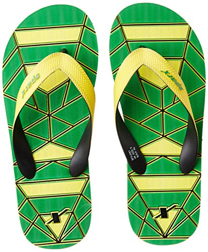 Sparx Men's Fluorescent Green and Yellow Flip Flops Thong Sandals - 8 UK/India (42 EU)(SF2061GFGYL)  available at amazon for Rs.227