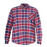 LAHTI PRO L4180104 Herren Flanell-Hemd Arbeitshemd Holzfällerhemd 100% Baumwolle-kariert-CE/EN 340 Größe: XL, Rot mit Blau