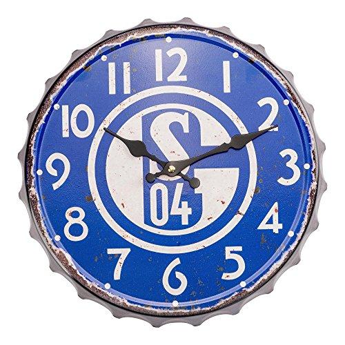 FC Schalke 04 Wanduhr Vintage (blau)