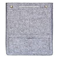 VANCORE Long Large Felt Insert Purse Organizer Handbag Cosmetic Travel Bag for Women (Light grey)