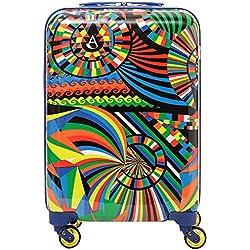 Aerolite Bagage Cabine Bagage à Main Valise Rigide Légere à 4 roulettes en Polycarbonate, Approuvé Ryanair, easyJet, Air France, KLM, Lufthansa, Vueling Plus, Carnaval