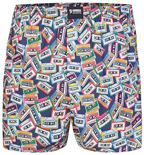 Happy Shorts American Boxer Boxershorts Shorts Webboxer D48 witzige Designs, Grösse:L - 6-52, Farbe:Design 048