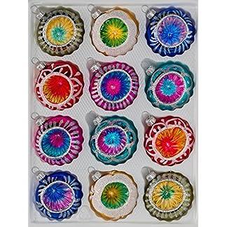 12-tlg-Glas-Weihnachtskugeln-Set-inHochglanz-Vintage-Style-Christbaumkugeln-Weihnachtsschmuck-Christbaumschmuck-Reflektorkugeln-Reflexkugeln-Reflector-Ball