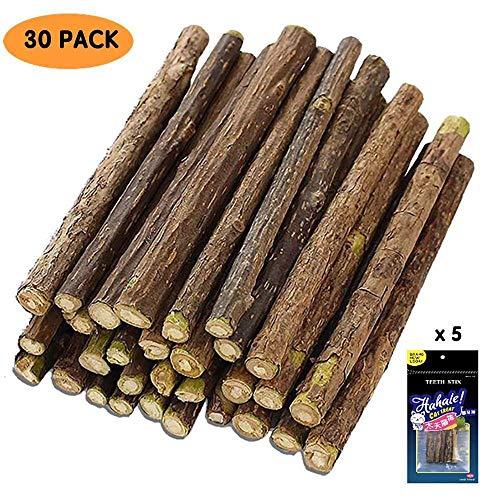 QIMMU 30 Stück Katzenminze Sticks zum Schleifen von Zähnen, Spielzeug für Katzen, 100% natürlich,Matatabi Zahnpflege
