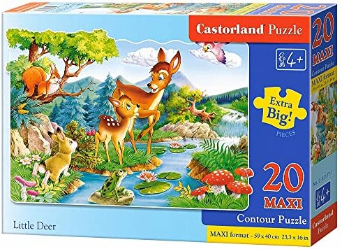 Castorland (CSC02177) Jigsaw 20 Premium Maxi 20 Jigsaw Pc - Little Deers B00AMSCV52 324a25