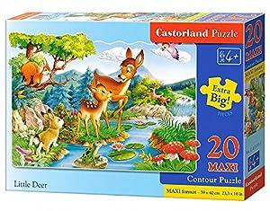 CASTORLAND Little Deers 20 Maxi pcs Contour Puzzle 20 Pieza(s) - Rompecabezas (Contour Puzzle, Dibujos, Preescolar, Niño/niña, 4 año(s), Interior)