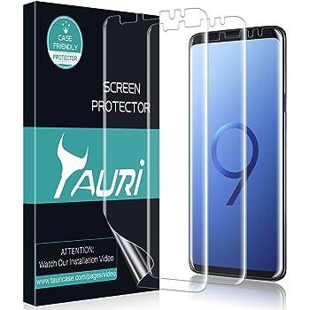 TAURI Protection Écran pour Samsung Galaxy S9 Plus Liquide-Peau 3 Pièces    Installation de l eau  HD Clair TPU Film Protection  sans Bulle    Installation ... 8aa4f7cce15c
