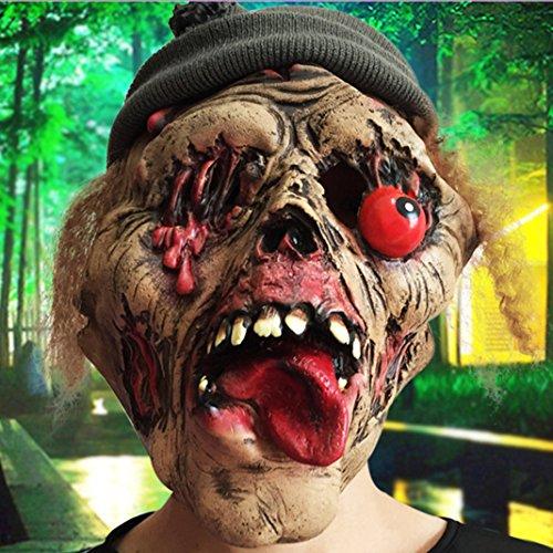Halloween Máscara de Terror Moon mood Máscara de Grimace Terror Halloween Fiesta Traje