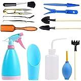N/0 Mini-tuingereedschapsset, 14 stuks vetplantgereedschappen, miniatuur, tuinieren, gereedschap, miniguinen, binnen, tuinger