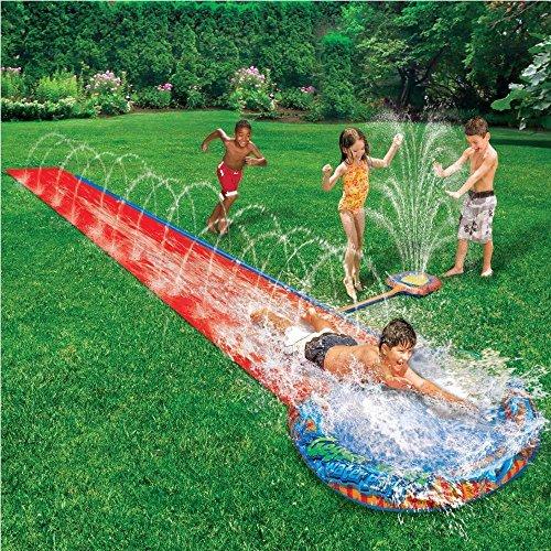 CHILDRENS KIDS SLIP N SLIDE SOAK SPLASH 16' GARDEN WATER SPRAY SPRINKLE POOL TOY