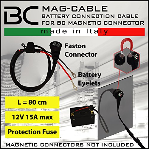 Battery Connection Cable with Eyelets for Magnetic Connector BC MAG-F / BC MAG-KIT for connection to the vehicle's…