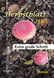 Herbstblatt - Extra große Schrift