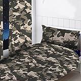 Camouflage grau Vorhänge 182,9cm Drop