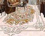 Jonp 3D Tapete Hintergrundbild Wallpaper Custom Mode Ästhetische Persönlichkeit Wallpaper Europäischen Stein Muster Parkett 3D-Bodenbeläge Muster 3D Wallpaper Wandmalerei Fresko Mural 350cmX280cm