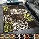 Design Velours Kurzflor Teppich 'Patch' Vintage Muster, Farbe:Rot, Größe:200x290 cm