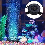 Yosoo Aquarium Air Bubble Stone with Colour Changing 6 LED Lights Fish Tank Decorative Colorful Lamps,UK Plug
