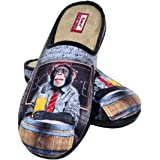Zapatillas cómodas andar por casa graciosas originales divertidas - Mono cerveza