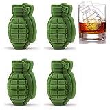 JZK 4 x Silikon 3D Granate Ice Cube Formen Eiswürfelform Eiswürfelbehälter Eiswürfelform zum Whiskey Scotch Cocktails…