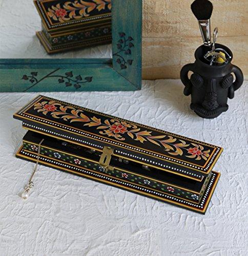 Store Indya, Della penna di legno della matita della cassa della scatola stazionario Organizzatore per multiuso bagagli