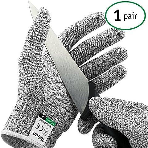 Twinzee® Schnittschutz-Handschuhe (1 Paar) – Extra Starker Level 5 Schutz,