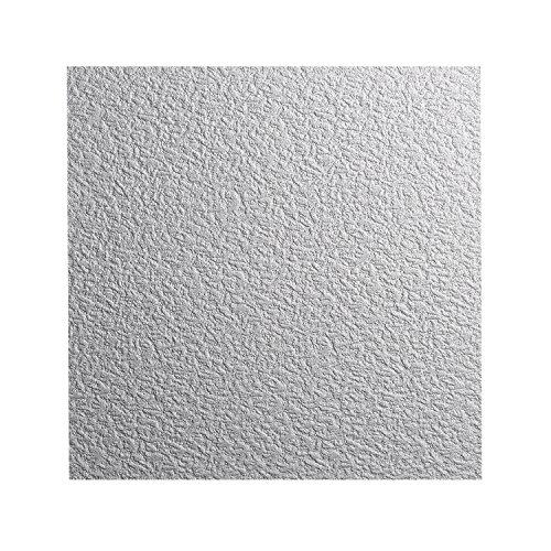 DECOSA Styropor Deckenplatten GENT in Putz Optik - 16 Platten = 4 m2 - Edle Deckenpaneele weiß - Dekor Paneele 50 x 50 cm - Decken Styroporpaneele (16 Deckenplatten)