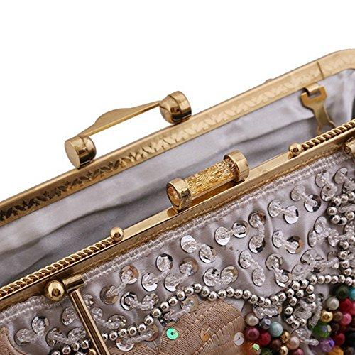 Eysee, Borsa tote donna argento Silver 34cm*25cm*3cm Grey