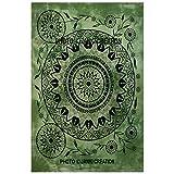 Janki Creation Wohnheim Decor Boho Bohemian indischen Mandala Poster, Größe 40x 30, Baumwolle Indian New Design Poster, Poster, Wohnzimmer Baumwolle Mandala Wandbehang Kleine Größe Poster,