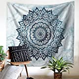 Mandala Bohemian Decor Tapestry Wall Hanging Decor Art Home Decorations Psychedelic Intricate Floral Bedroom Living Room Dorm Hangings Tapestries Beach Throw Table Runner Cloth GT12 (Mandala 3)