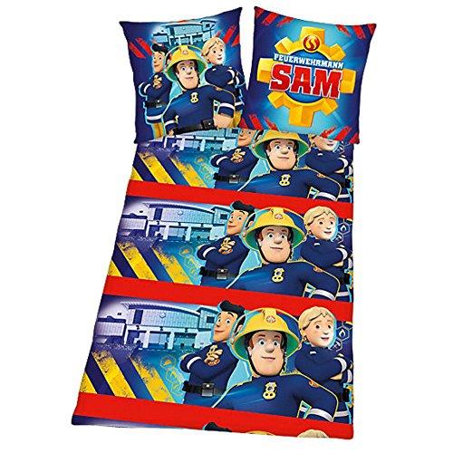 Sam Le Pompier - Fireman Sam - Enfants Housse de Couette   Taie Réversible  Flanelle 80 1d22208b8f18