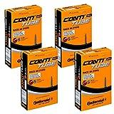 Continental Race 28 Cámara de Aire, Negro, 700c, Paquete de 4