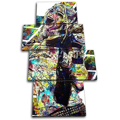 (Bold Bloc Design - Harley Quinn Suicide Movie Greats 160x90cm MULTI Leinwand Kunstdruck Box gerahmte Bild Wand hangen - handgefertigt In Grossbritannien - gerahmt und bereit zum Aufhangen - Canvas Art Print)