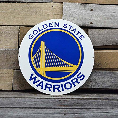 Authentic Street Signs NBA Basketball 30,5cm Stahl Schreibtisch-Set für Papierwaren College Team Sport Zeichen für Mehrbettzimmer, Man Höhlen, Garagen, Golden State Warriors (Basketball Authentic)