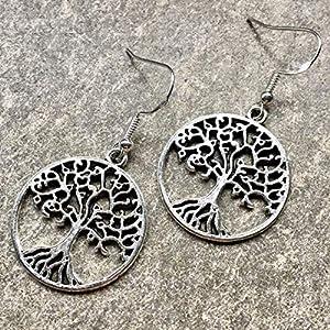 Ohrringe HOLY TREE | Ohrhaken aus Silber 925 | Baum des Lebens | keltischer Weltenbaum | tree of life
