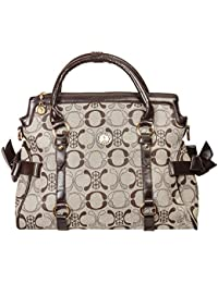 Levise London Stylish PU Leather Hand Bags For Ladies - Grey & Brown Color, Spacious, Durable Bags For Women Handbags...