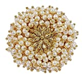 #3: Shining Diva Fashion Jewellery Gold Plated Pearl Traditional Stylish Finger Ring for Women & Girls