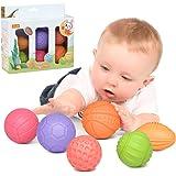 Babyspeelgoed 0-6 maanden baby stapelen ballen, educatief zacht knijpspeelgoed, tandjes kauwen speelgoed Babybad speelgoed pe