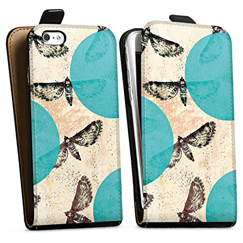 Apple iPhone X Silikon Hülle Case Schutzhülle Motten Muster Motte Downflip Tasche schwarz