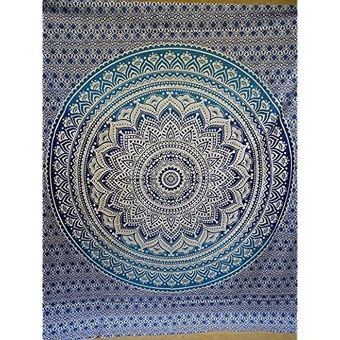Mandala indiano Wall Hanging Tapestry, Hippy Hippy Arazzi piuma, Tapestry,