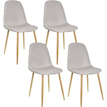 Zons set di 4 sedie dal design scandinavo stile nordico for Sedie design nordico