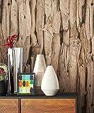 NEWROOM Holztapete Tapete Braun Holzbalken Holz Landhaus Vliestapete erdtöne Vlies moderne Design 3D Optik Holztapete Holzwand Naturholz Holzpaneele Natur inkl. Tapezier Ratgeber