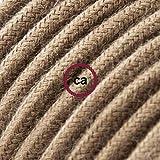 Creative-Cables Cavo Elettrico rotondo rivestito in Cotone Tinta Unita Marrone RC13-5 Metri, 2x0.75
