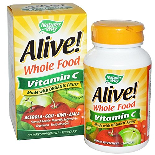 Nature's Way, Alive!, Vitamin C, 100 % Whole Food Komplex, 120 Kapseln -