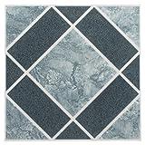 Achim Home Furnishings FTVGM30320Nexus 30,5cm piastrelle in vinile, Geo chiaro e blu scuro rombi, 20-pack
