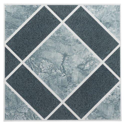 Achim Home Furnishings ftvgm30320Nexus 12Zoll Vinyl Fliesen, Geo hell und dunkel blau Diamant Muster, 20er Pack